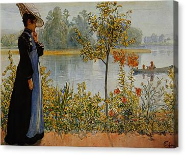 Indian Summer Canvas Print by Carl Larsson