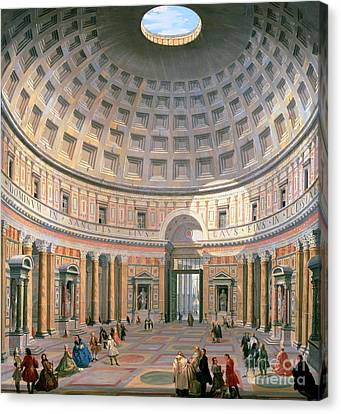 Interior Of The Pantheon Canvas Print by Panini