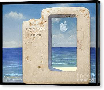 Iphone 6 Plus  Steve Jobs Spirit Canvas Print by Miki Karni