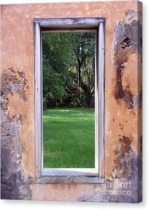 Jeckyll Island Window Canvas Print by Tom Romeo