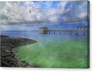 Jekyll Island Fishing Pier Canvas Print by Betsy C Knapp