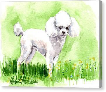 Jorji Standing Canvas Print by Linda L Martin