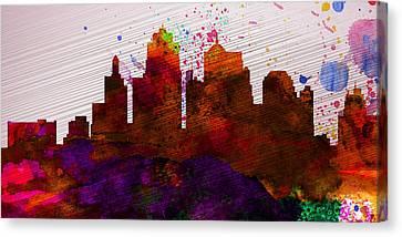Kansas City Skyline Canvas Print by Naxart Studio