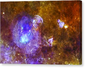 Life And Death In A Star-forming Cloud Canvas Print by Adam Romanowicz