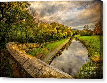 Llangollen Canal Canvas Print by Adrian Evans