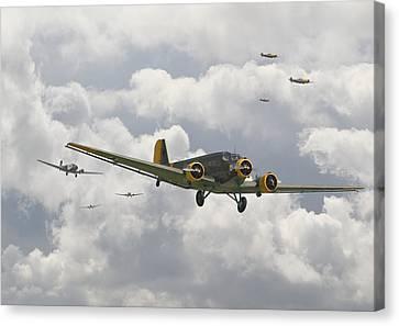 Luftwaffe Ju52  - Stalingrad Canvas Print by Pat Speirs