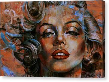 Marilyn Monroe Canvas Print by Arthur Braginsky