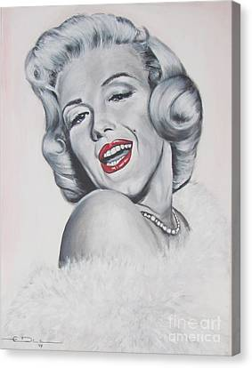 Marilyn Monroe Canvas Print by Eric Dee