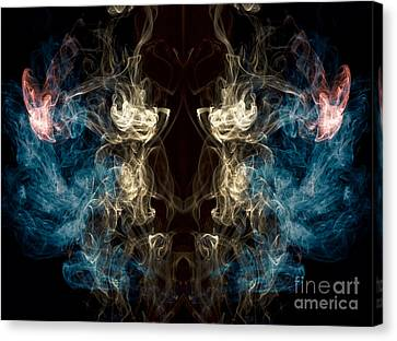Minotaur Smoke Abstract Canvas Print by Edward Fielding