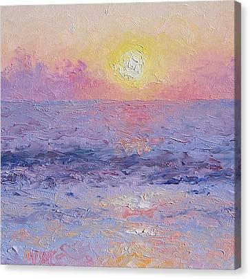 Moonrise Impression Canvas Print by Jan Matson
