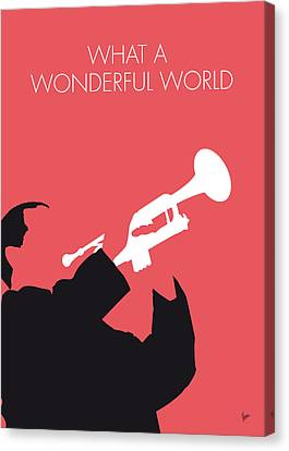 No012 My Louis Armstrong Minimal Music Poster Canvas Print by Chungkong Art
