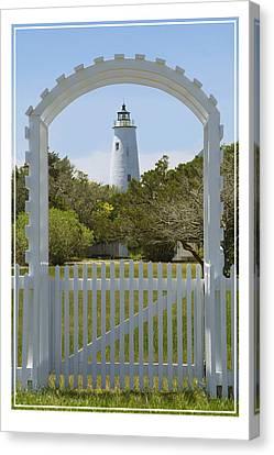Ocracoke Island Lighthouse Canvas Print by Mike McGlothlen