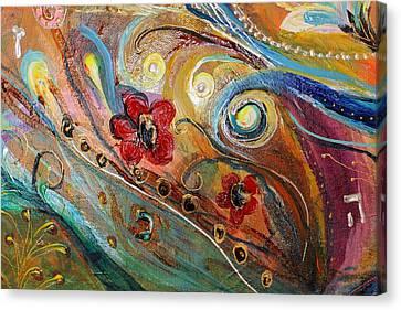 Original Painting Fragment 10 Canvas Print by Elena Kotliarker