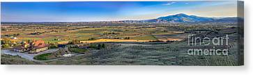 Panoramic Emmett Valley Canvas Print by Robert Bales