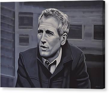 Paul Newman Canvas Print by Paul Meijering