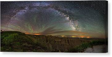 Pinnacles Overlook At Night Canvas Print by Aaron J Groen