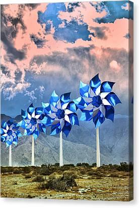Pinwheels Windmills Palm Springs Canvas Print by William Dey