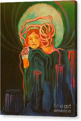 The Alcoholic Mother Canvas Print by Carolyn LeGrand