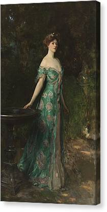 Portrait Of Millicent Leveson-gower - Duchess Of Sutherland Canvas Print by John Singer Sargent