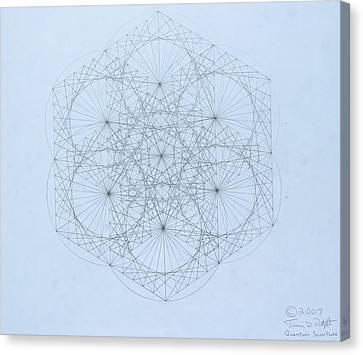 Quantum Snowflake Canvas Print by Jason Padgett