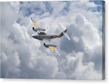Raf Meteor - 1940s Cutting Edge Canvas Print by Pat Speirs
