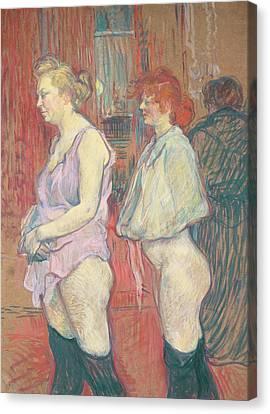 Rue Des Moulins Canvas Print by Henri de Toulouse-Lautrec