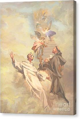 Saint Benedict And Saint Francis Of Assisi Canvas Print by John Alan  Warford