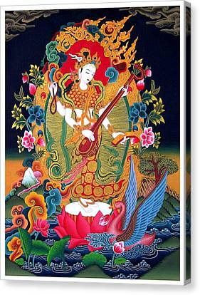 Saraswati 3 Canvas Print by Lanjee Chee