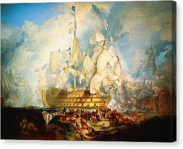 The Battle Of Trafalgar Canvas Print by Celestial Images