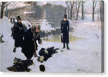 The Duel Canvas Print by Ilya Efimovich Repin
