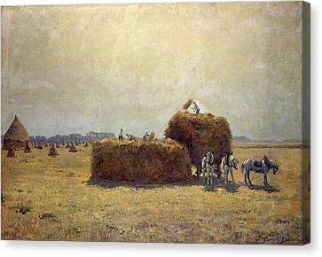 The Harvest Canvas Print by Pierre-Georges Dieterle