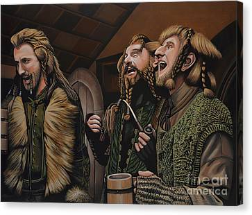 The Hobbit And The Dwarves Canvas Print by Paul Meijering