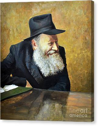The Lubavitcher Rebbe Smiling Canvas Print by Eugene Maksim