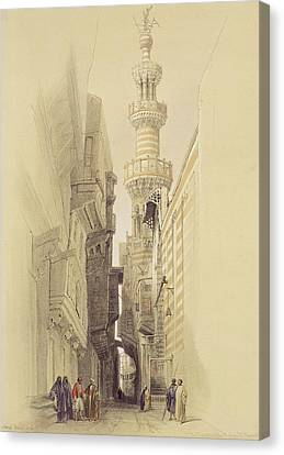 The Minaret Of The Mosque Of El Rhamree Canvas Print by David Roberts