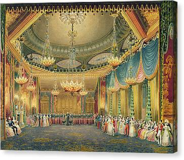 The Music Room Canvas Print by English School