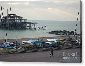 The Old West Pier Canvas Print by Hugh Reynolds