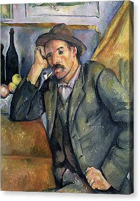 The Smoker Canvas Print by Paul Cezanne