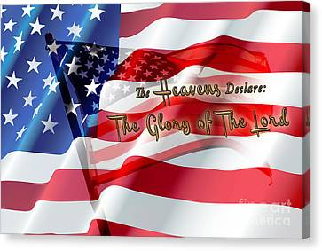 The Stars And Stripes Canvas Print by Beverly Guilliams
