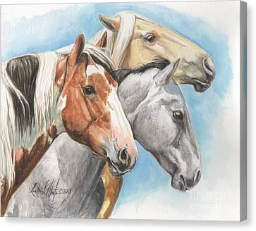 The Trio Picasso River Bobby Canvas Print by Linda L Martin