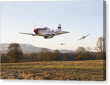 Air Force Canvas Print featuring the digital art  Through The Gap by Pat Speirs