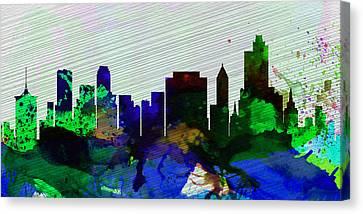 Tulsa City Skyline Canvas Print by Naxart Studio
