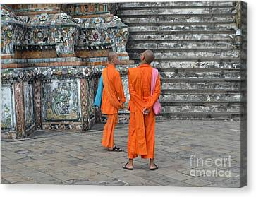 Two Monks Canvas Print by Michelle Meenawong