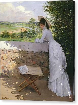Un Figaro De Reve  Canvas Print by Jean Beraud