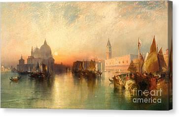 View Of Venice Canvas Print by Thomas Moran
