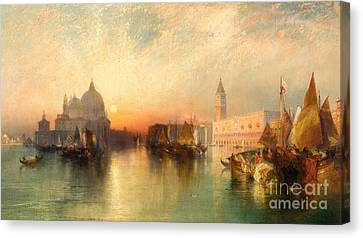 View Of Venice Canvas Print by Thomas Moran