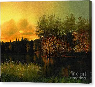Warm Waters Canvas Print by Robert Foster