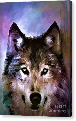 Wolf Canvas Print by Andrzej Szczerski