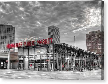 0038 Milwaukee Public Market Canvas Print by Steve Sturgill