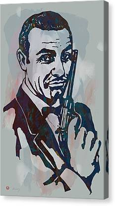 007 James Bond - Stylised Etching Pop Art Poster Canvas Print by Kim Wang