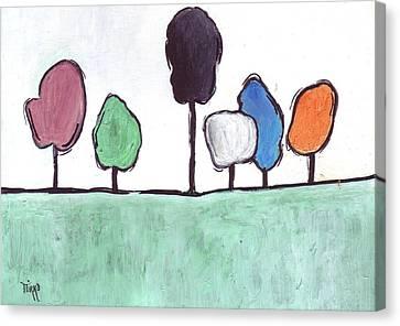 01-trees Canvas Print by Mirko Gallery